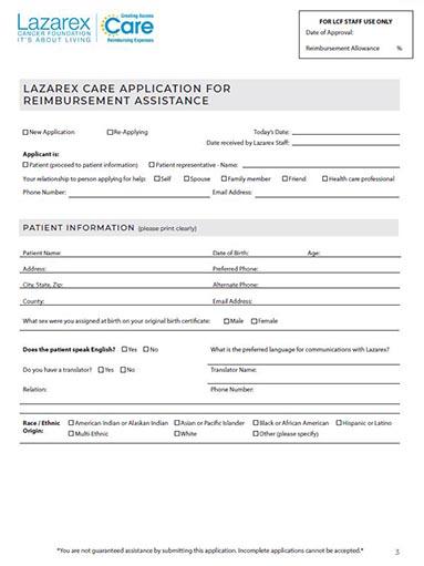 Care Financial Assistance form web 1